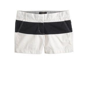 J. Crew Colorblock Navy Chino Shorts Size 0